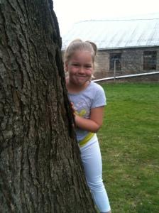 My daughter Posing